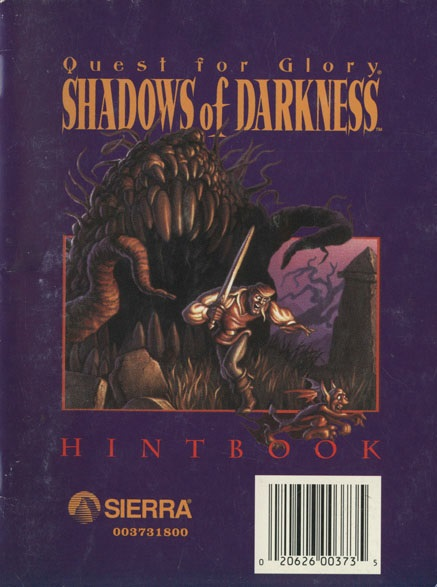 The sierra chest hint books strategy guides quest for glory 4 hint book rise of the fandeluxe Images