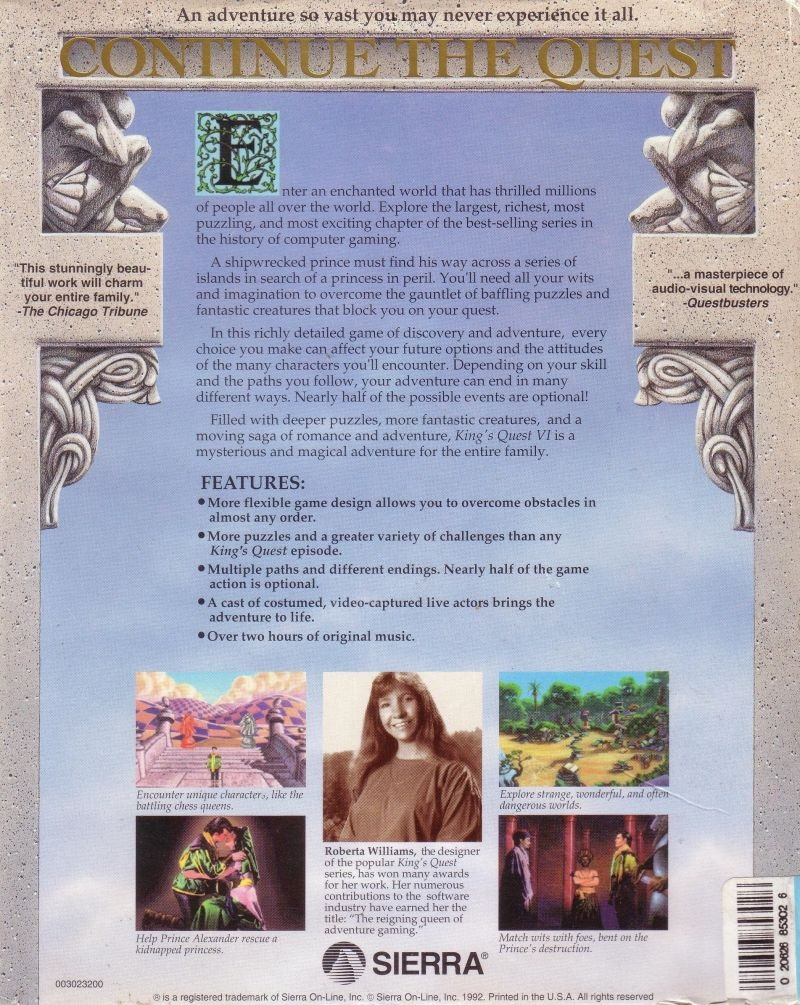 The Sierra Chest King S Quest Vi Heir Today Gone Tomorrow Packaging Content